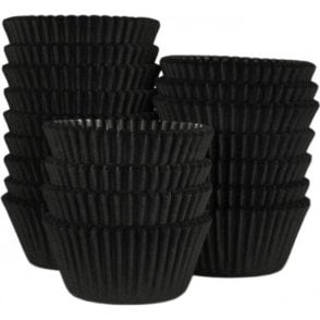 Black - Professional Quality Cupcake Cases, Bulk Pack of 500