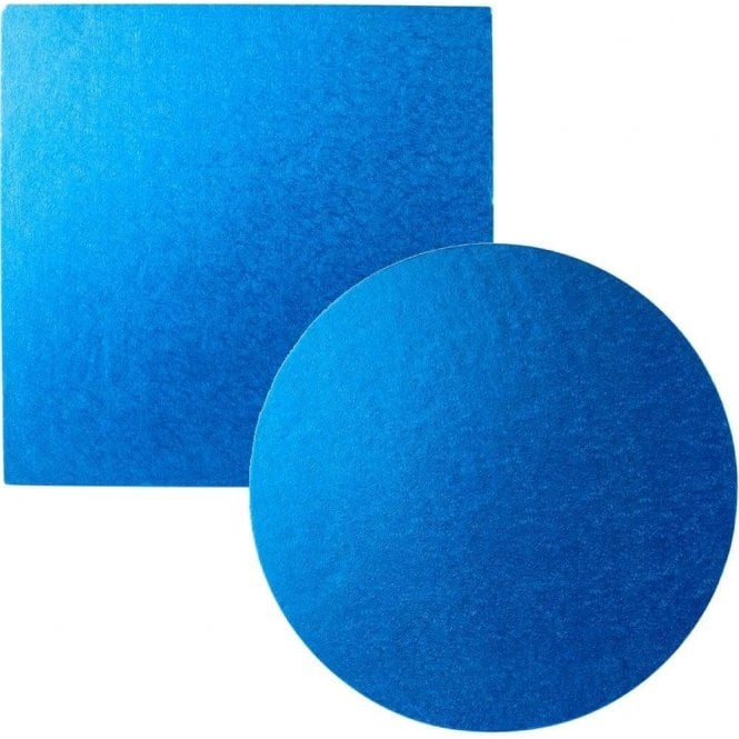 Packaging Pro Blue Foiled Cake Drum/Board 12mm Thick - Choose Your Shapes & Sizes