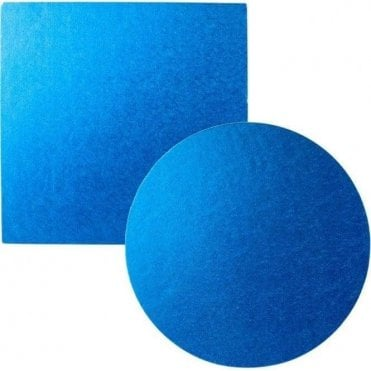 Blue Foiled Cake Drum/Board 12mm Thick - Choose Your Shapes & Sizes