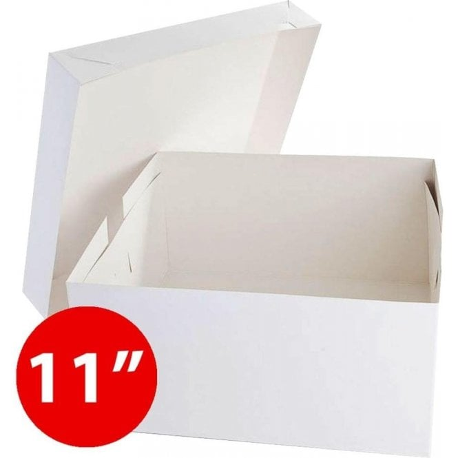 "Packaging Pro *Bulk Buy* 11"" Square, Standard Cake Boxes, Base & Lids - Pack of 50"