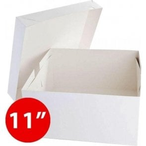 "*Bulk Buy* 11"" Square, Standard Cake Boxes, Base & Lids - Pack of 50"