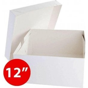 "*Bulk Buy* 12"" Square, Standard Cake Boxes, Base & Lids - Pack of 50"