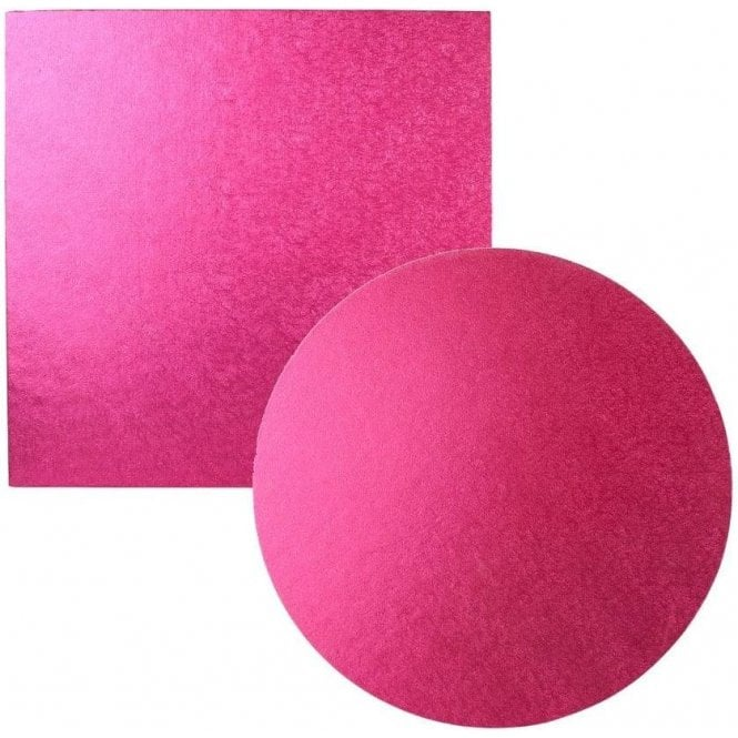 Packaging Pro Cerise Foiled Cake Drum/Board 12mm Thick - Choose Your Shapes & Sizes
