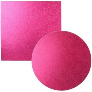 Cerise Foiled Cake Drum/Board 12mm Thick - Choose Your Shapes & Sizes
