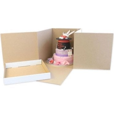 Cubed (for tiered cakes), Heavy Duty Extra Strong Corrugated Cake Boxes - Choose Your Sizes