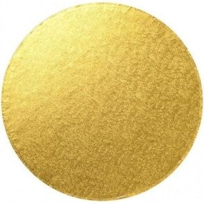 Gold Round Foiled Cake Drum/Board 12mm Thick - Choose Your Sizes