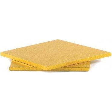 Gold Square Foiled Cake Drum/Board 12mm Thick - Choose Your Sizes