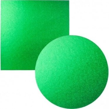 Green Foiled Cake Drum/Board 12mm Thick - Choose Your Shapes & Sizes