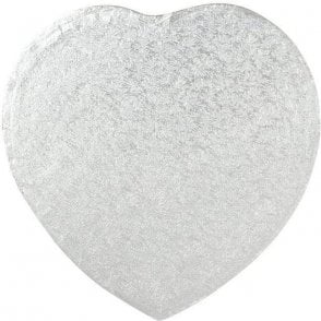 Heart - Silver Cake Drum/Board - Choose Your Sizes