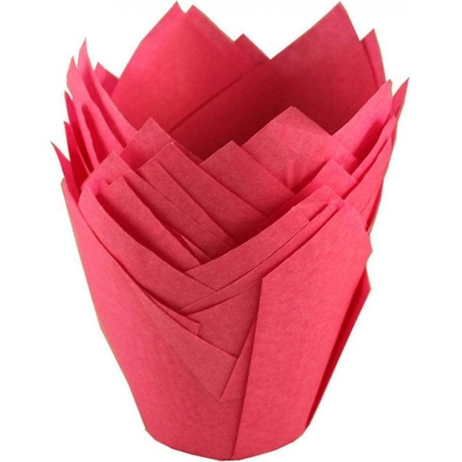 Packaging Pro Hot Pink Tulip Muffin Cases - 200 per pack