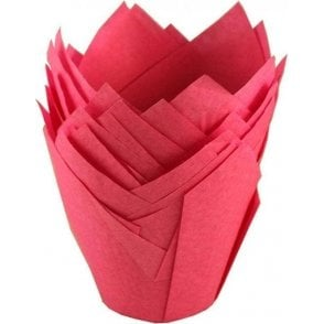Hot Pink Tulip Muffin Cases - 200 per pack