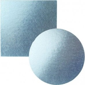 Light Blue Foiled Cake Drum/Board 12mm Thick - Choose Your Shapes & Sizes