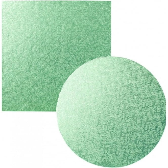 Packaging Pro Light/Pale Green Foiled Cake Drum/Board 12mm Thick - Choose Your Shapes & Sizes
