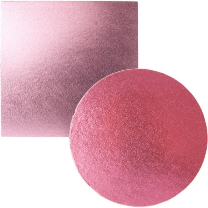 Packaging Pro Light Pink Foiled Cake Drum/Board 12mm Thick - Choose Your Shapes & Sizes