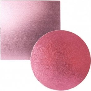 Light Pink Foiled Cake Drum/Board 12mm Thick - Choose Your Shapes & Sizes