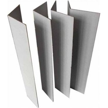 "Pack of 4 - L Shape Corrugated Corner Extensions - 14"" high"
