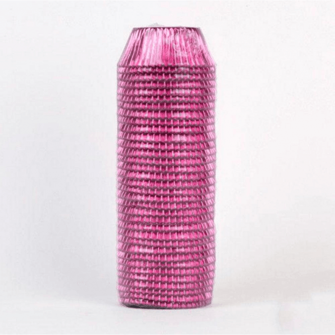 Packaging Pro Pink Metallic Cupcake Baking Cases - Pack of 500