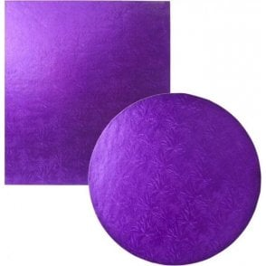 Purple Foiled Cake Drum/Board 12mm Thick - Choose Your Shapes & Sizes
