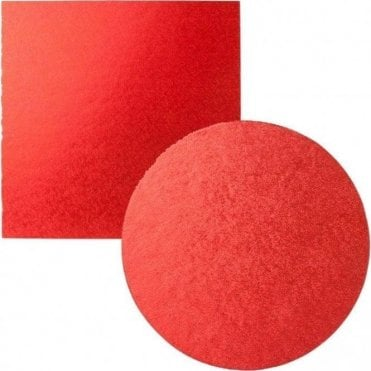 Red Foiled Cake Drum/Board 12mm Thick - Choose Your Shapes & Sizes