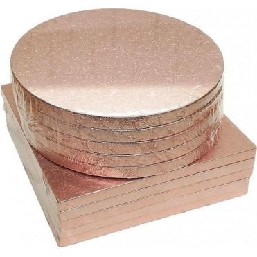 ROSE GOLD Foiled Cake Drum/Board 12mm Thick - Choose Your Shapes & Sizes