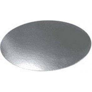 Silver Embossed Round Plain Cake Gateau Cards (1mm Thick) - Choose Your Sizes
