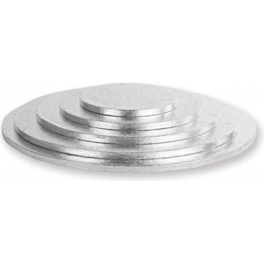 Silver Round Foiled Cake Drum/Board 12mm Thick - Choose Your Sizes