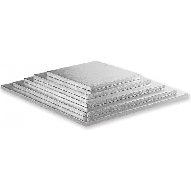 Packaging Pro Silver Square Foiled Cake Drum/Board 12mm Thick - Choose Your Sizes