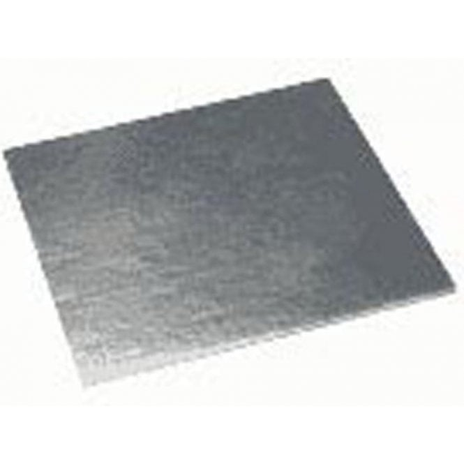Packaging Pro Silver Square Plain Cake Gateau Cards (1mm Thick) - Choose Your Sizes