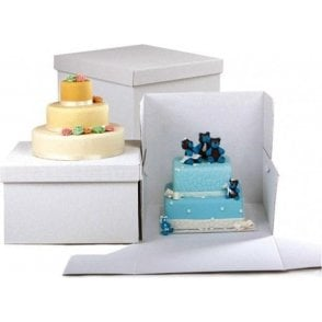 Square, Heavy Duty Extra Strong Corrugated Cake Boxes - Choose Your Sizes