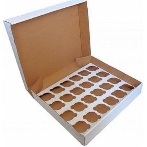White Heavy Duty Cupcake/Muffin Box - Holds 24