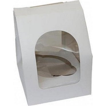 White Single Cupcake Box with Window