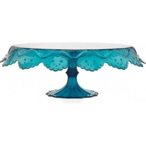 "280mm/11"" Translucent Green-Blue Papillon Luxury Cake Stand"