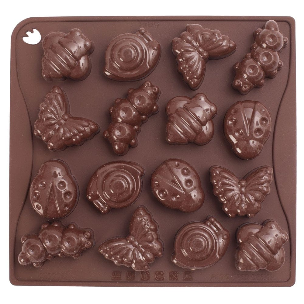 Insects Chocolate Silicone Mould By Pavoni Italia