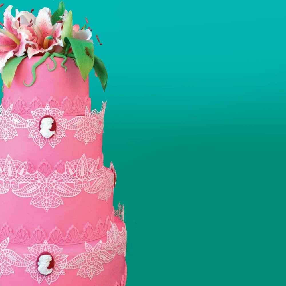 Gourmet Club Silicone Mat Starbursts Cake Cupcake