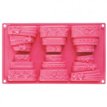 Wedding Cake Mould Silicone Multi Portion 6
