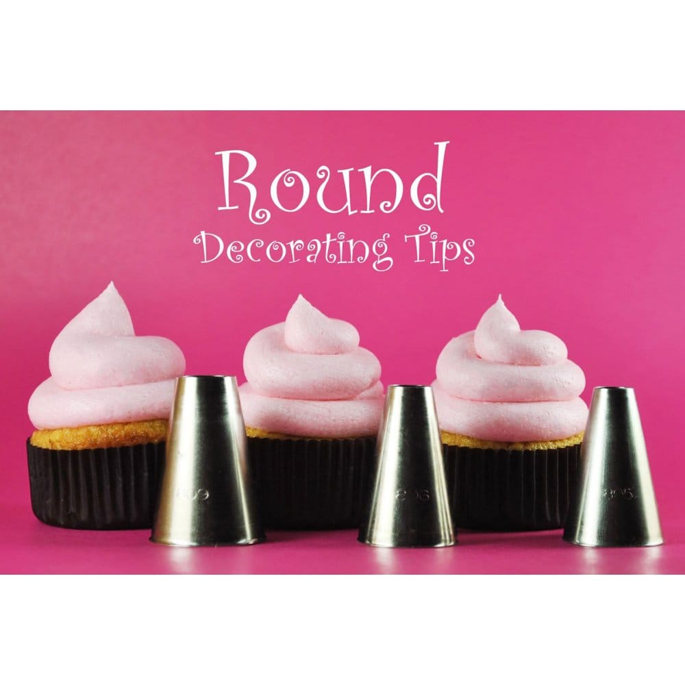 Professional Round Cake Decorating Stainless Steel Piping ...
