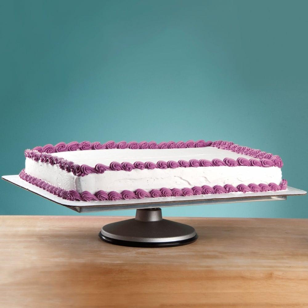 Rectangular Professional Aluminium Cake Decorating Turntable