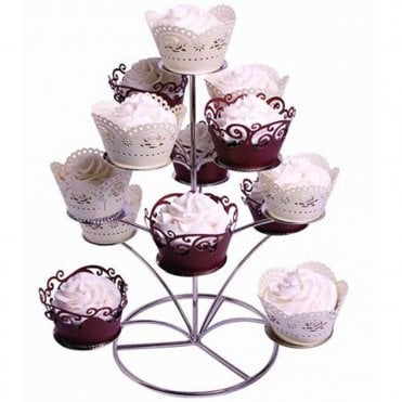 Chrome Cupcake Stand / Tower
