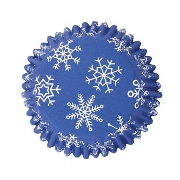 Snowflakes baking Cases- pack of 30