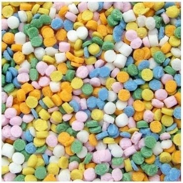 100% Natural, Pastel Rainbow Confetti Dots Sprinkles