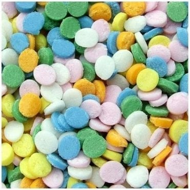 100% Natural, Pastel Rainbow Confetti Sequin Sprinkles