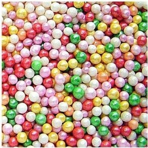 100% Natural, pearlised Rainbow 4mm Pearls