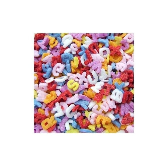 Quality Sprinkles 100% Natural, Rainbow Confetti Alphabets
