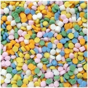 100% Natural,Rainbow Confetti Dots Sprinkles