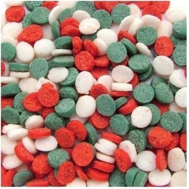 100% Natural, Red, Green & White Mix Christmas Confetti Sequin Sprinkles