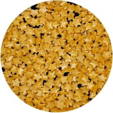 Gold Confetti Stars shapes EDIBLE sprinkles 100% Natural
