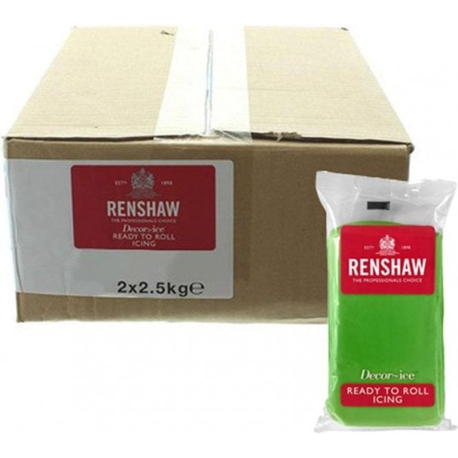 Renshaw 2.5kg Packs Lincoln Green Sugarpaste Ready To Roll Fondant Icing