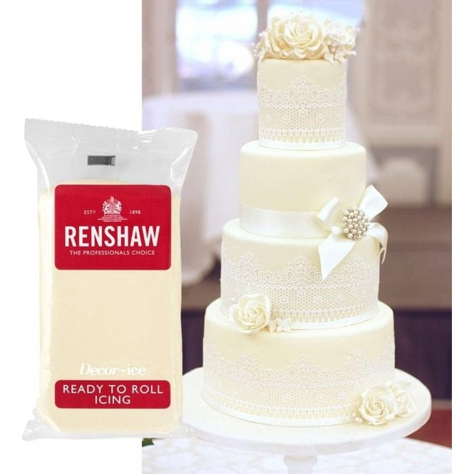 Renshaw Ivory/Celebration Professional Regalice Decor Ice Sugarpaste - Choose Your Pack Size