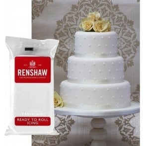 White Professional Regalice Decor Ice Sugarpaste - Choose Your Sizes