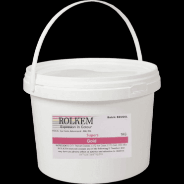 1000g/1kg Bucket - Super Gold - Metallic Edible Luxury Lustre Dusting Food Colour Cake Decorating & Sugarcraft